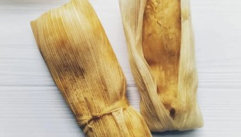 3 tamales de elote - sweetcorn tamales