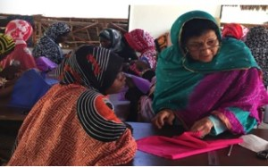 Embroidery classes for the women of Matemwe