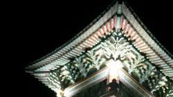 Yakcheonsa temple roof early morning