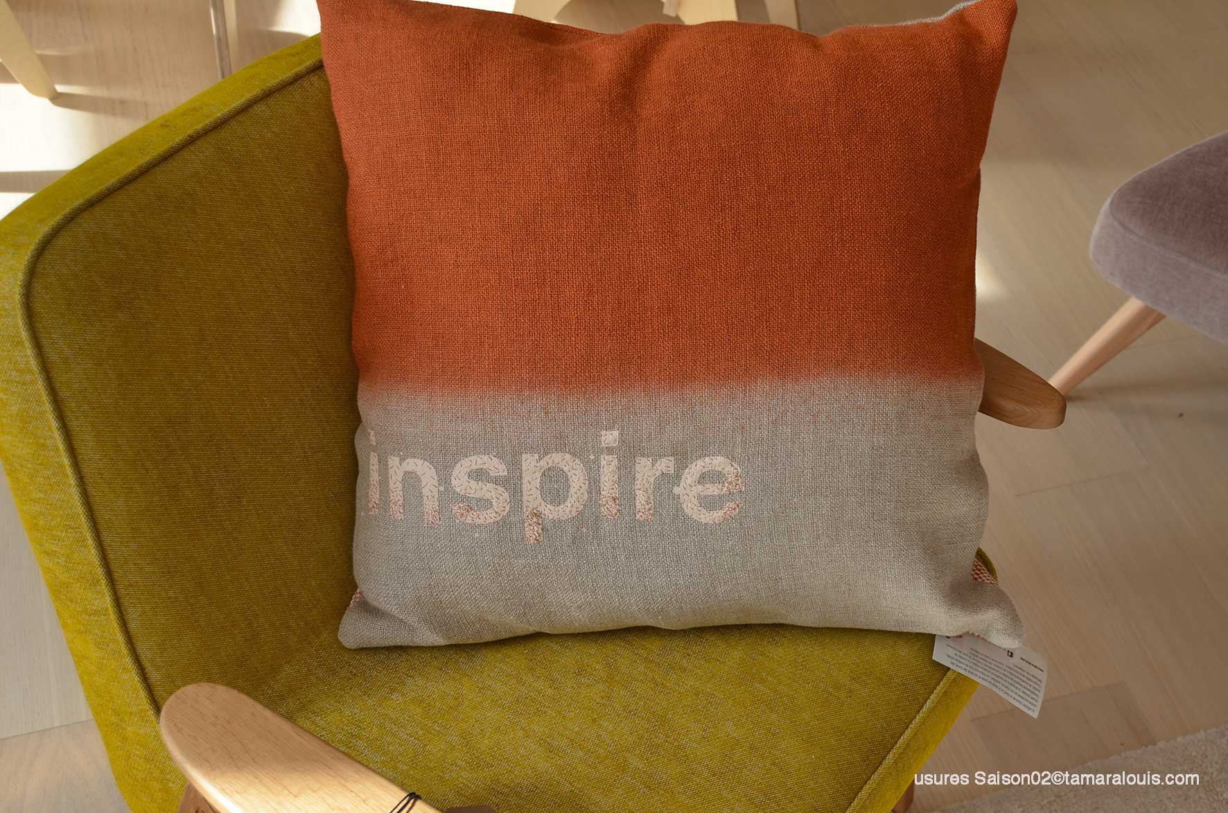 slowdesign & ameublement upcycling coussin