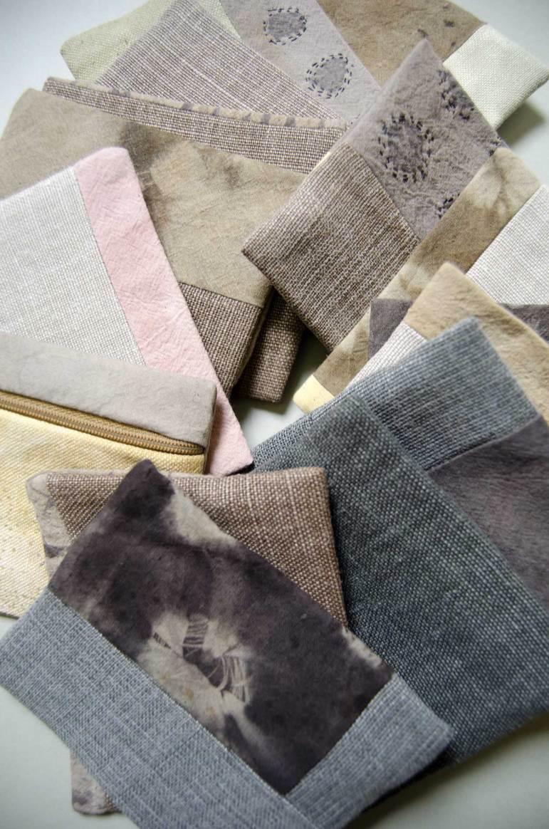 lin et coton teint avec les plantes