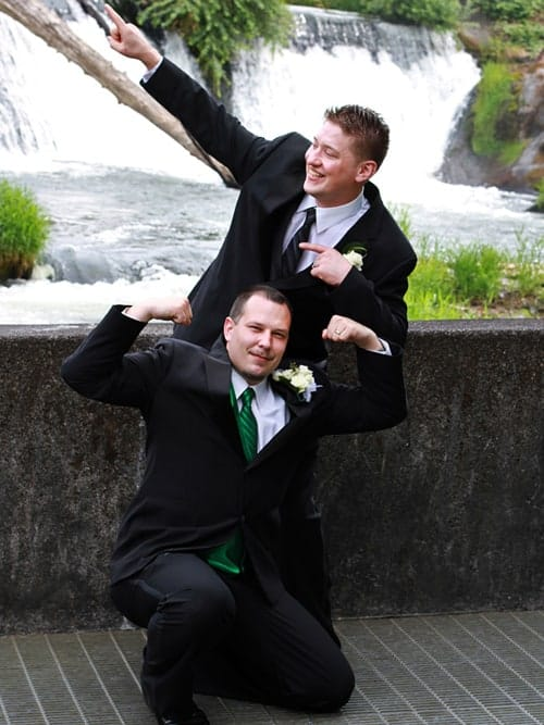 groom with best man picture
