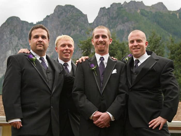 groom with groomsmen photo