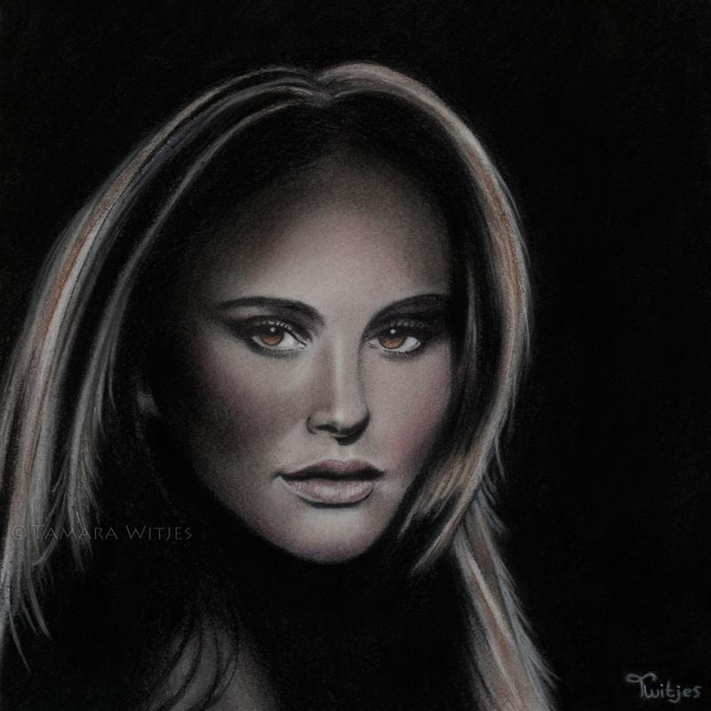 Pastelportret Natalie Portman