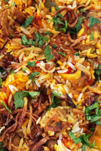 Lamb Pilaf, a combination of lamb curry and rice cooked the south african way