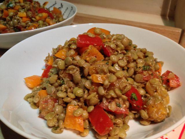 Salade de lentilles au curry
