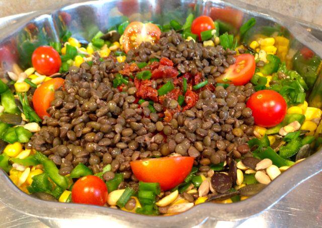 salade de lentilles vertes du puy à la mexicaine