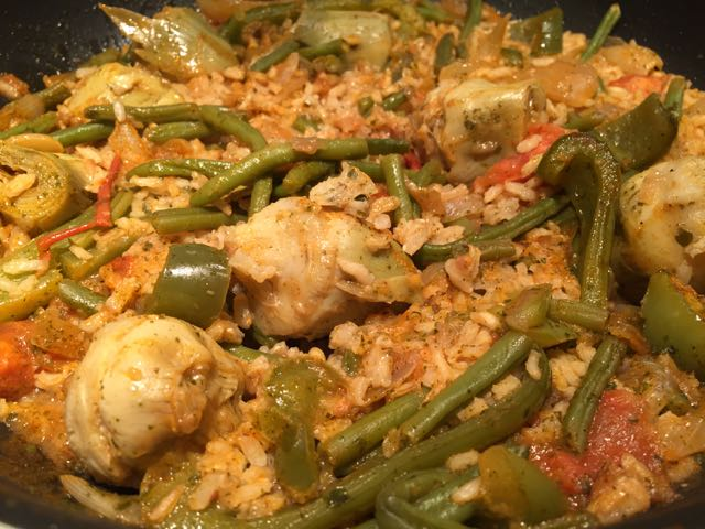 Riz l espagnole aux artichauts tambouille d lices - Peut on donner du riz cuit aux oiseaux ...
