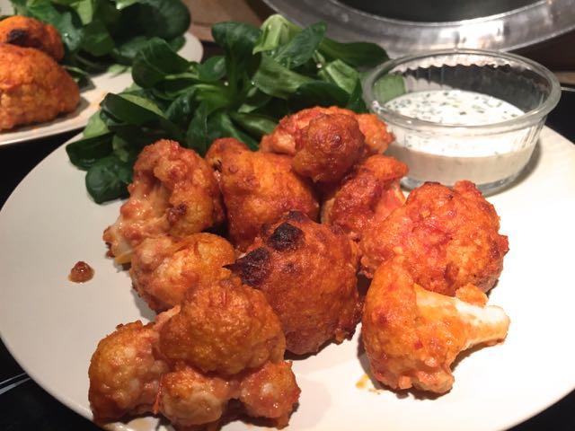 Spicy cauliflower wings (choux fleurs épicé)
