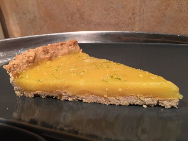 tarte au citron vegan part