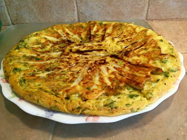 Omelette végétale aux Asperges blanches et aux herbes