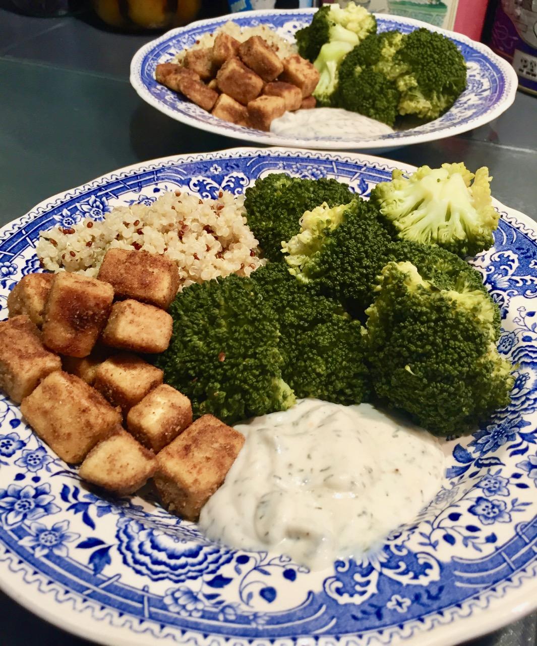 Tofu frit Cumin Coriandre