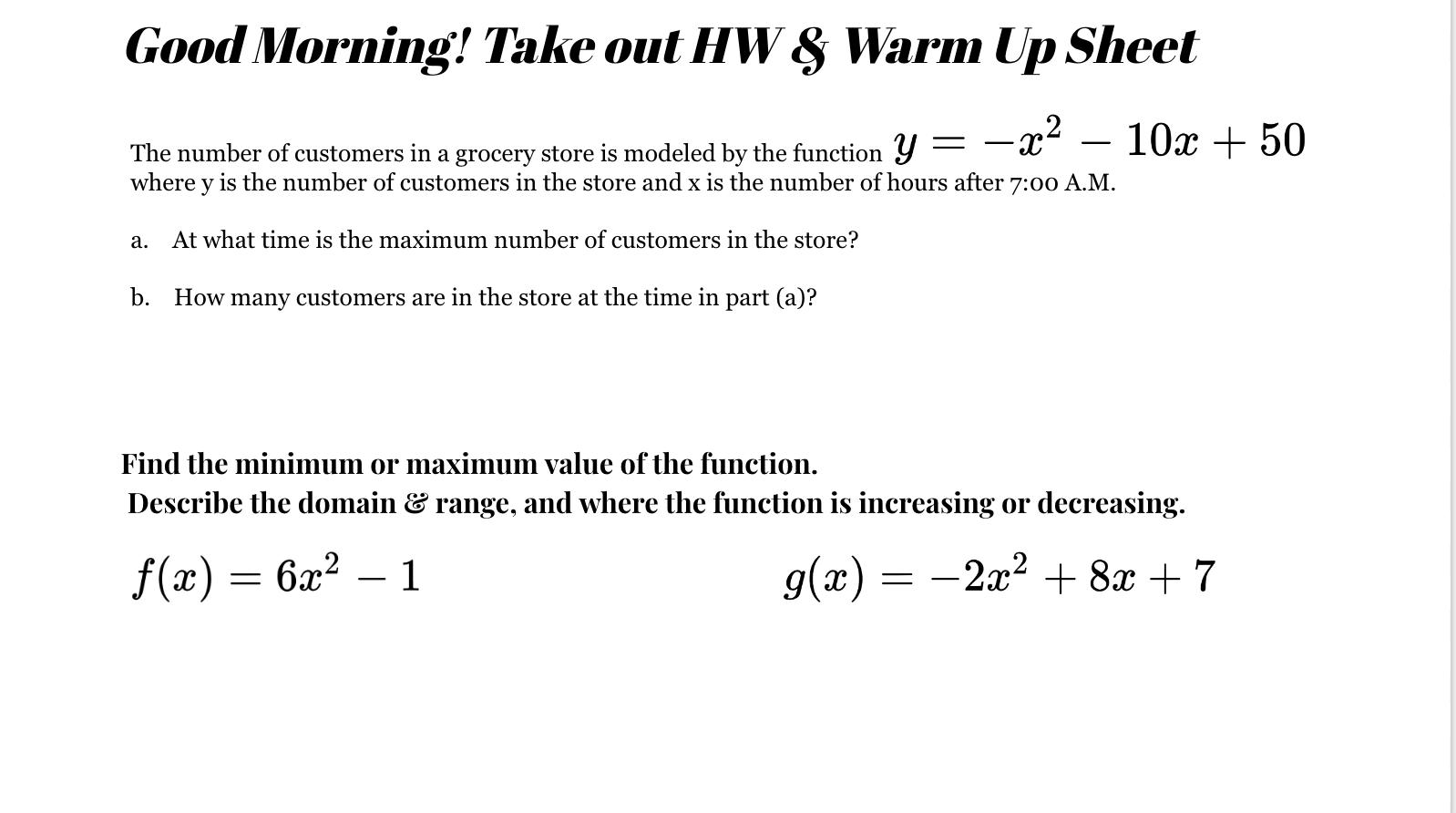 Algebra Worksheet Section 105 Answers