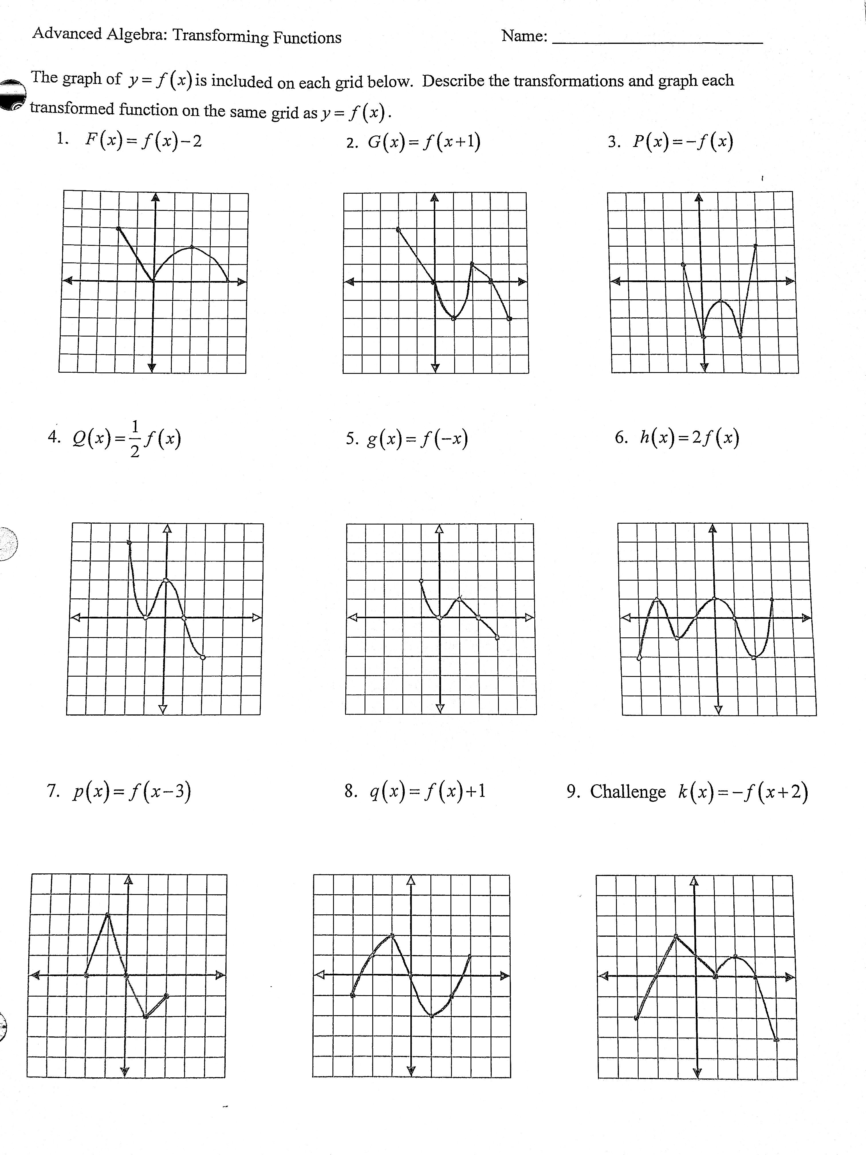 Math Models Worksheet 41 Relations And Functions