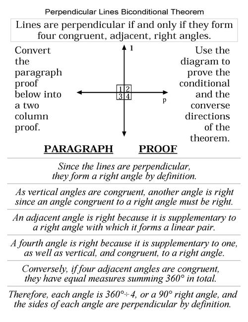 Alternate Interior Angles Theorem Proof