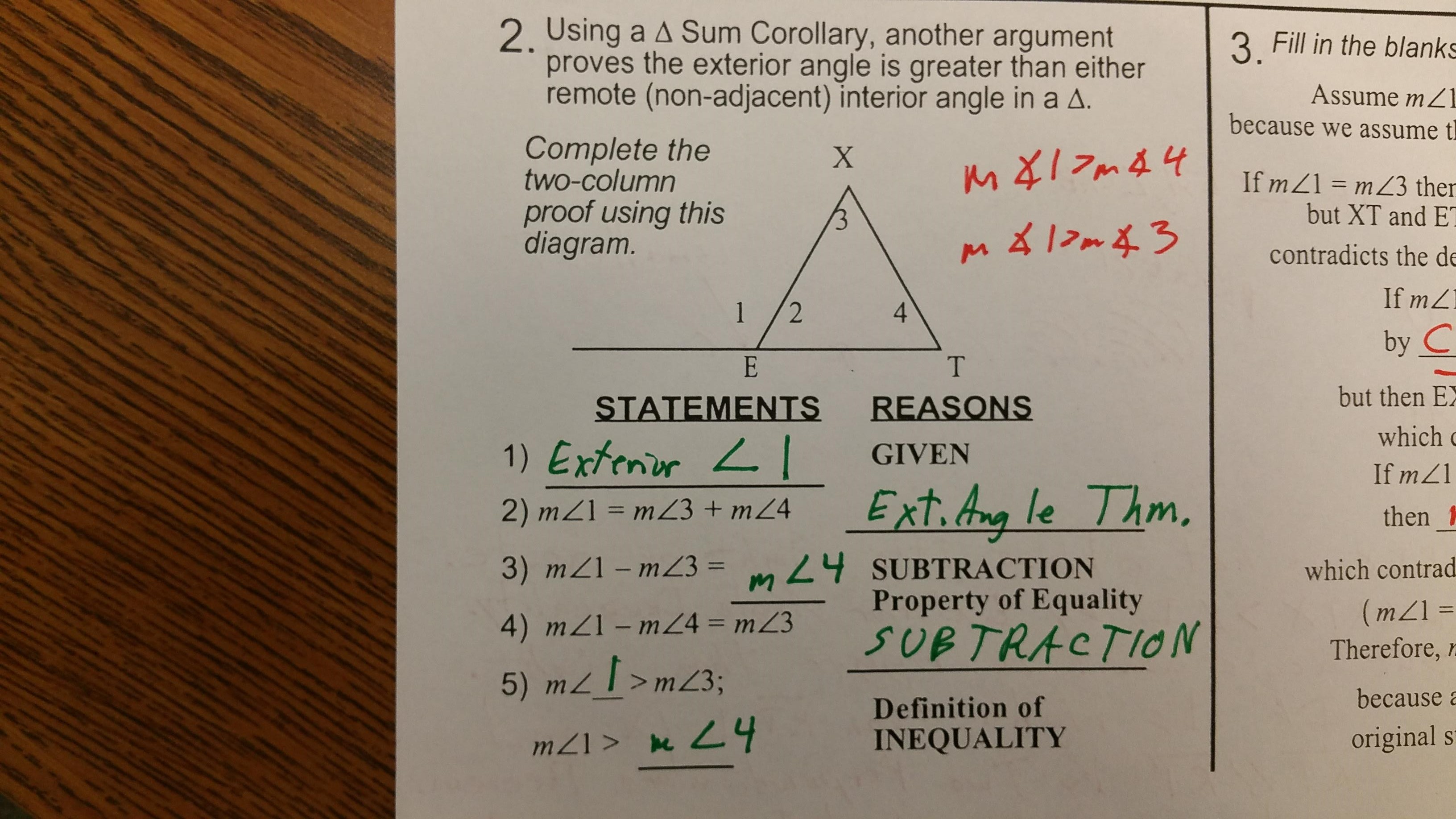Geometry Angle Proofs Worksheets With Answers