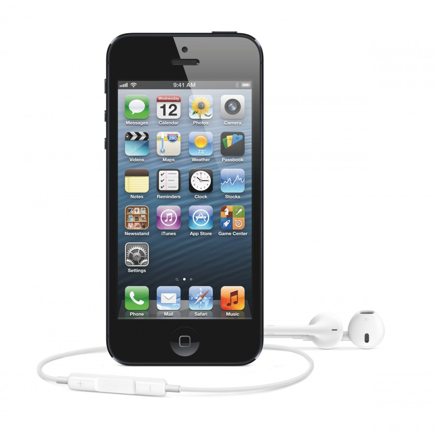 The iPhone 5 with EarPods