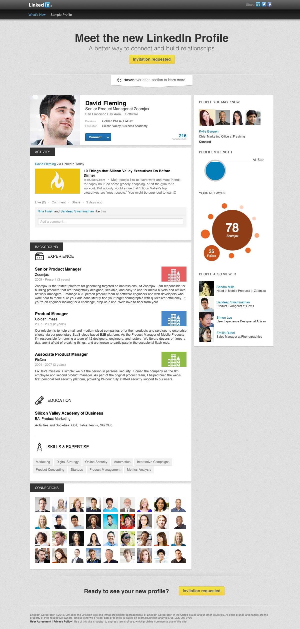 Meet the New LinkedIn Profile