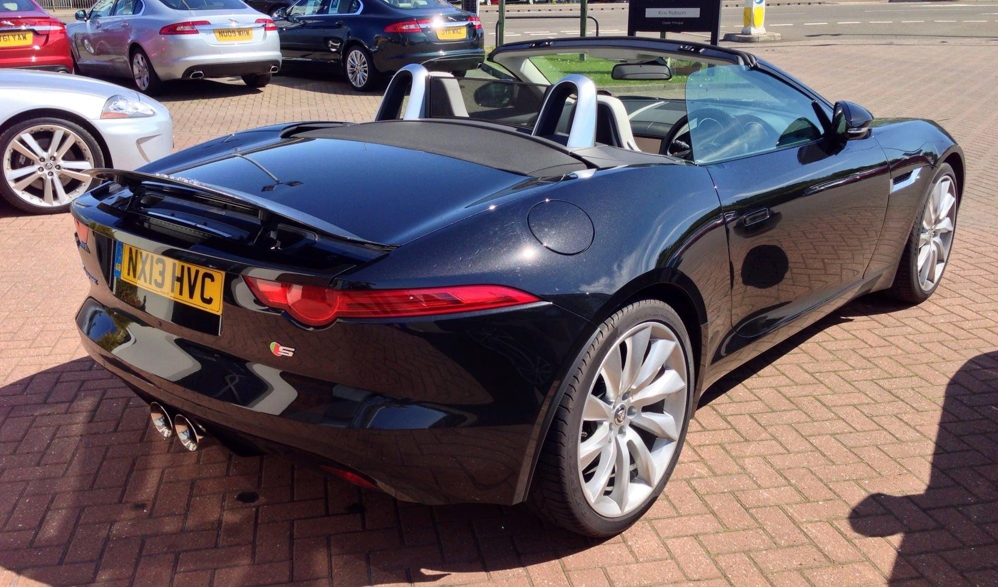 Jaguar F-Type, 3.0L V6 Supercharged, Black, Back