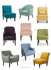 Colorful Accent Chairs Under $300 - Tamera Mowry