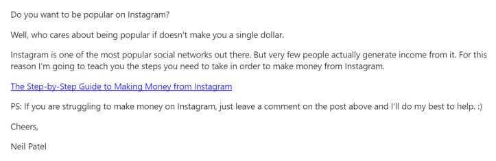 Marketing email ideas