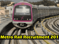 Metro rail recruitment 2017