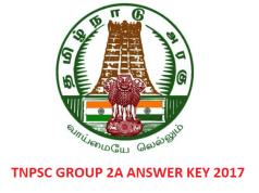 TNPSC Group 2A answer key 2017
