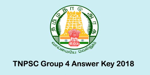 TNPSC Group 4 Answer Key 2018