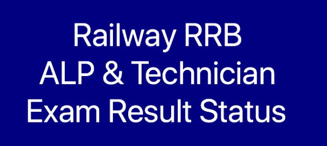 RRB ALP Technician Result date 2018