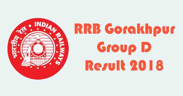 RRB Gorakhpur Group D Result 2018