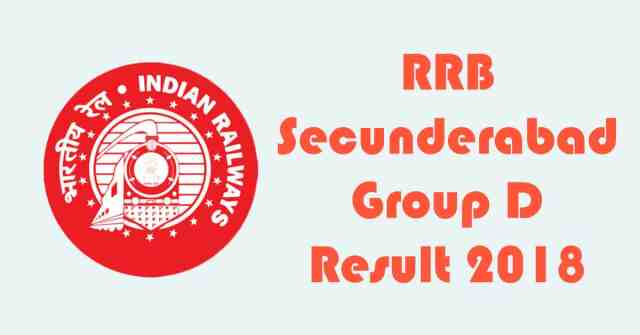 RRB Secunderabad Group D Result 2018
