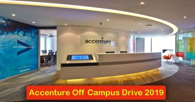 Accenture Off Campus Drive 2019