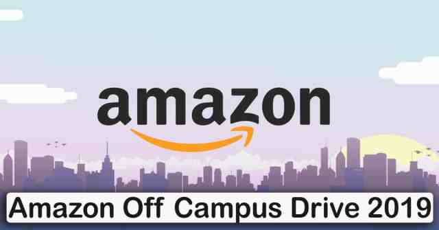 Amazon Off Campus Drive 2019