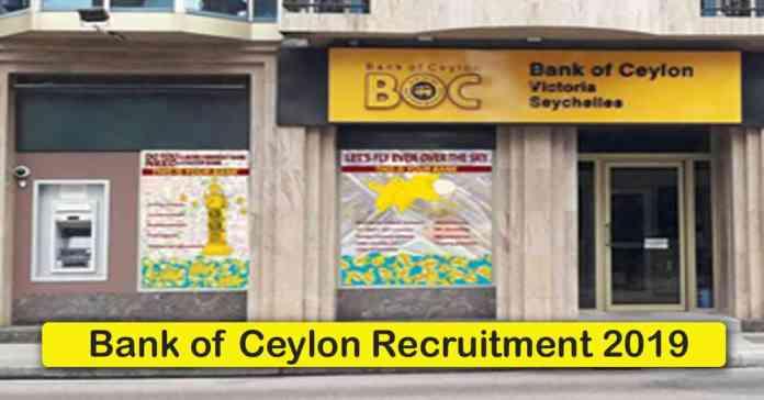 Bank of Ceylon Recruitment 2020 – Apply 1000+ Fresher job Openings