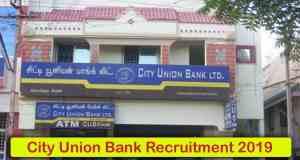 City Union Bank Recruitment 2019