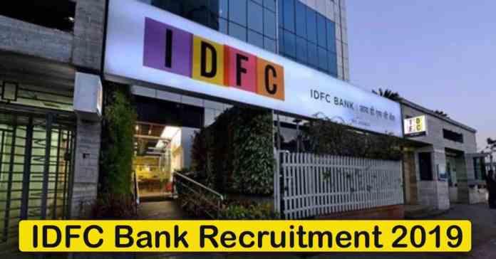 IDFC Bank Recruitment 2020