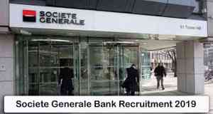 Societe Generale Bank Recruitment 2019
