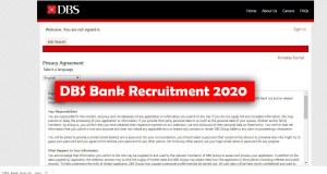 DBS Bank Recruitment 2020