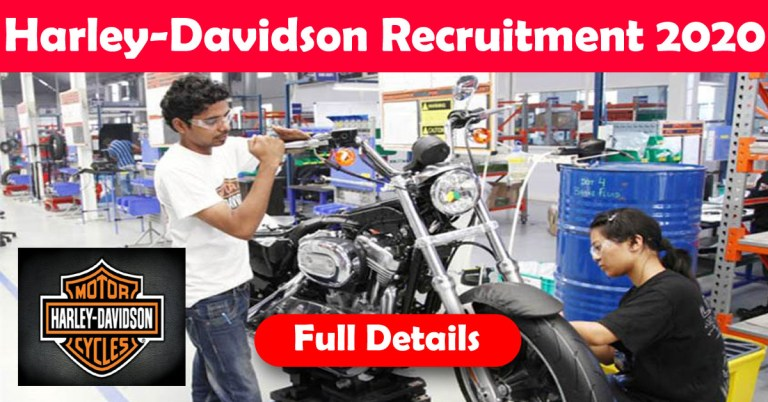 Harley-Davidson India Recruitment 2020: 100+ Fresher & experienced Job Openings