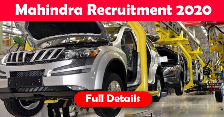 Mahindra & Mahindra Recruitment 2020: 5000+ Fresher & experienced Job Openings