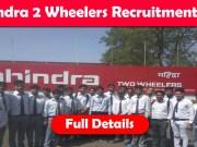 Mahindra Two Wheelers Recruitment