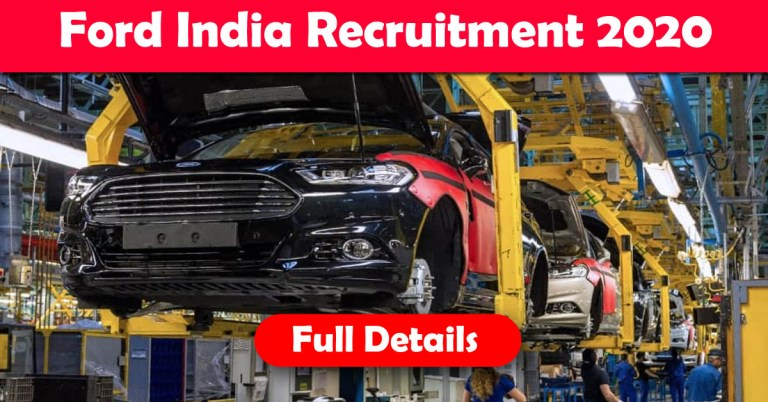 Ford Recruitment 2020: 100+ Fresher & experienced Job Openings