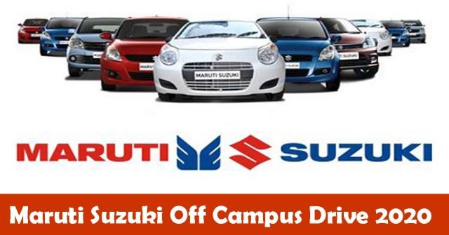 Maruti Suzuki Off Campus Drive 2020
