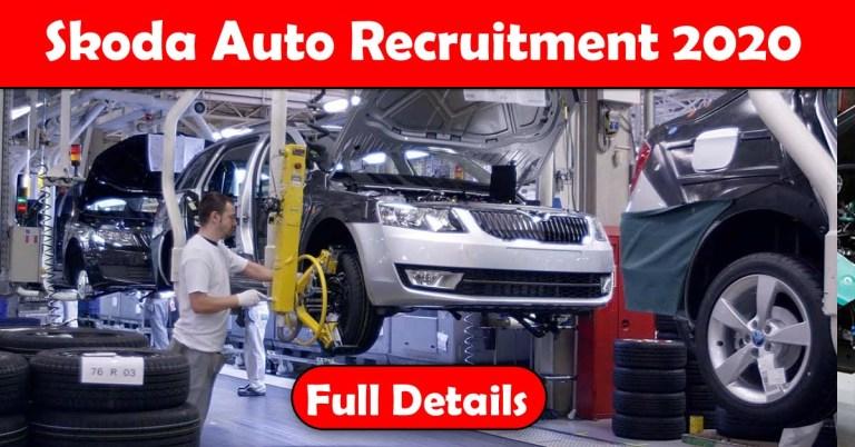 Skoda Recruitment 2020: 100+ Fresher & experienced Job Openings