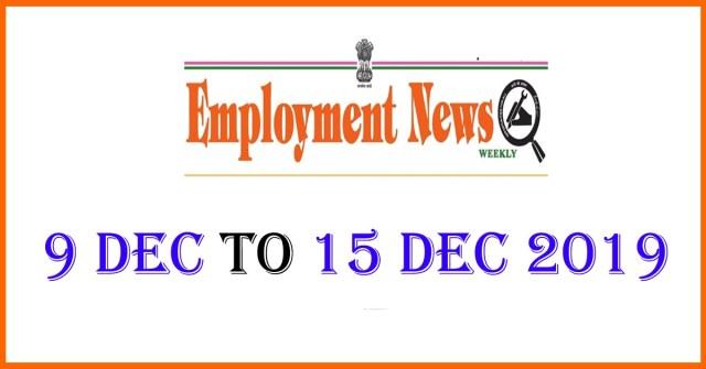 9 Dec to 15 Dec 2019 Job Updates