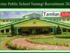 Army Public School Narangi Recruitment 2020