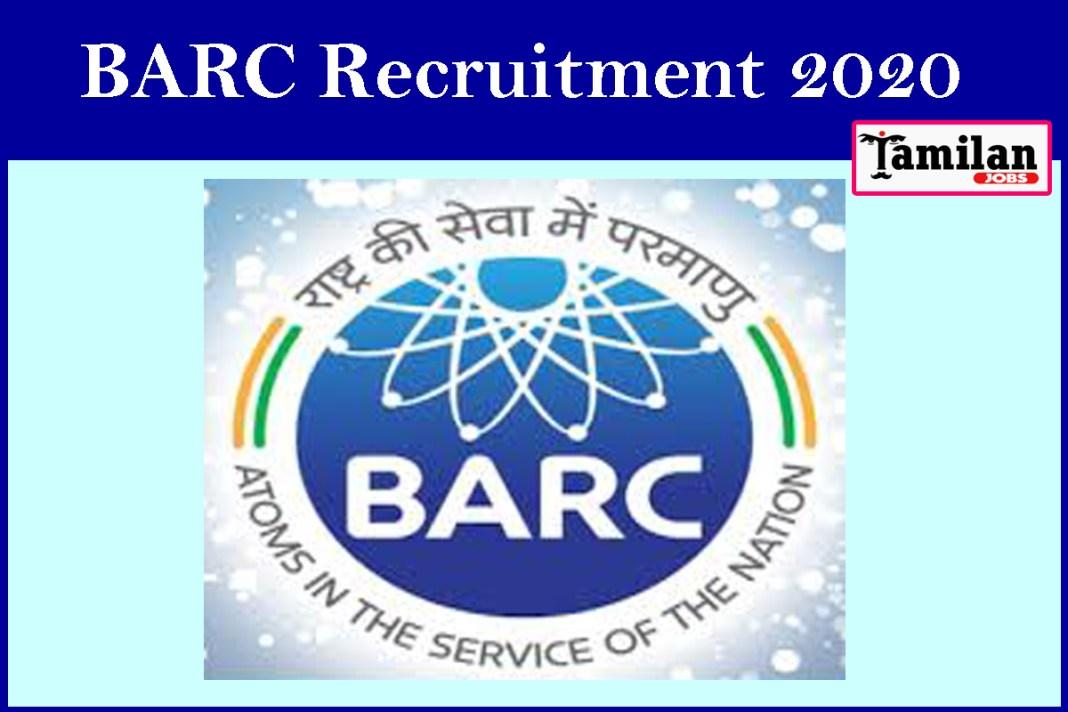 BARC Recruitment 2020