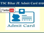 BTSC Bihar JE Admit Card 2020