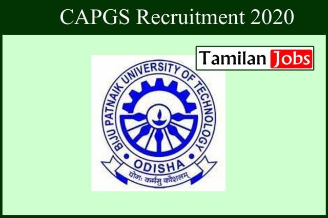 CAPGS Recruitment 2020