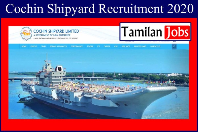 Cochin Shipyard Recruitment 2020 Out – Apply Online 49 Manager, Officer Jobs